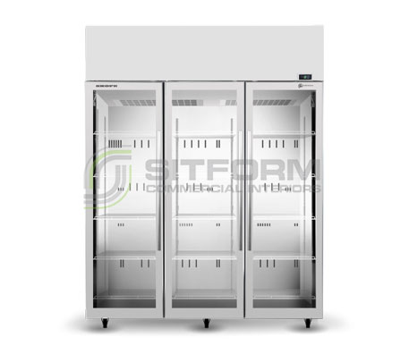 SKOPE  TME ActiveCore TME1500N-A *3 Glass Door Display or Storage Fridge – White | Floor Standing - Cold Displays