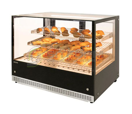 Airex Countertop Heated Square Food Display AXH.FDCTSQ | Hot Food Displays