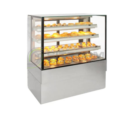 Airex Freestanding Heated Square Food Display AXH.FDFSSQ | Floor Standing - Hot Displays