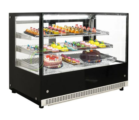 Airex 900mm wide Countertop Refrigerated Square Food Display AXR.FDCTSQ.09 | countertop-chiller-fridges