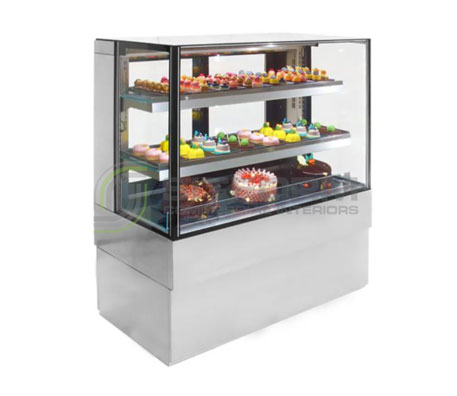 Airex Freestanding Refrigerated Square Food Display AXR.FDFSSQ | Floor Standing - Cold Displays