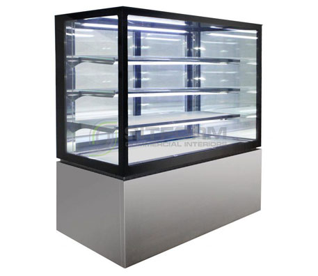 Anvil NDHV4740 Square Glass 4 Tier Hot Display 1200mm | Floor Standing - Hot Displays