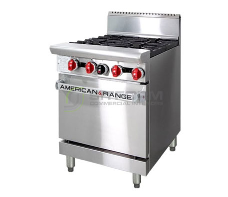 American Range 24″ Oven Range AAR.4B.N – Gas | Commercial Equipment
