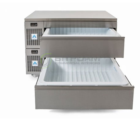 Adande Double Slimline Dual Temperature Drawers VLS2.CT | Commercial Equipment