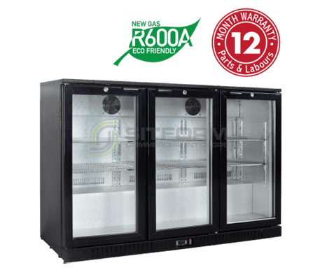 Exquisite UBC330 -Three Swing Doors Backbar Display Refrigerators | Commercial Equipment