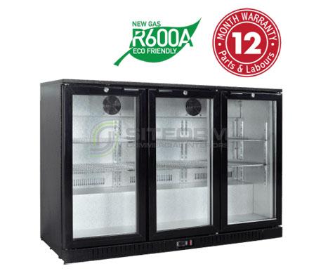 Exquisite UBC330 – Three Swing Doors Backbar Display Refrigerators | Commercial Kitchen Equipment