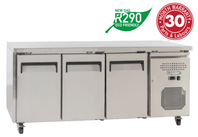 Exquisite USC400H – 3 Solid Doors Underbench Chiller – 700mm Depth | Commercial Equipment