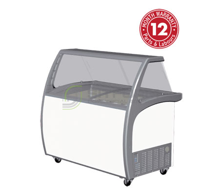 Exquisite SD415S2 Nine Tubs Ice Cream Scooping Freezers | Gelato & Ice Cream Displays