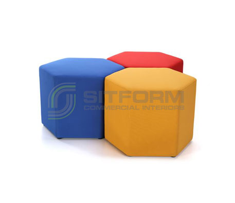Closs Hexagon | Commercial Ottomans | Commercial Furniture & Fit Outs